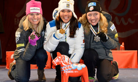 US party after surprise ski cup win in Sweden