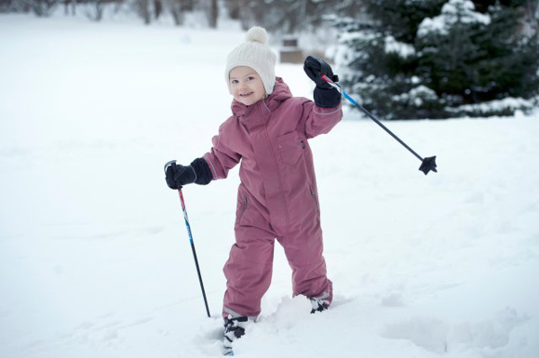 Princess Estelle shows off her skills on skis in Feburary 2014.Photo: Kungahuset