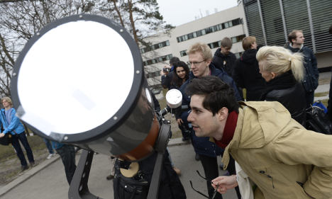 Sweden joins Europe's glimpse of solar eclipse