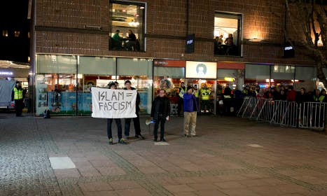 Just four protestors at Sweden anti-Islam rally