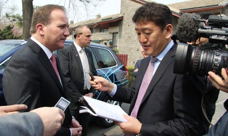 Swedish PM faces rights pressure in China