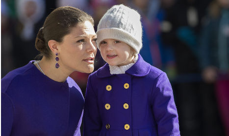 The royal pair wrap up in matching coats on a sunny but chilly day in the Swedish capital.Photo: TT