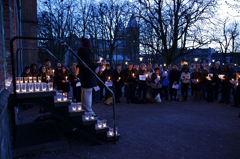Pictures from Lund's candlelight vigil for Kenya