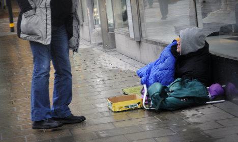 Begging ban push from Swedish opposition