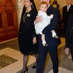 Princess Madeleine and her husband Chris O'Neill with their daughter Princess Leonore in the Vatican on April 27th, 2015.Photo: Henrik Montgomery/TT