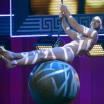 The artist's interpetation of Miley Cyrus at QX Gaygala in Stockholm 2014.  Photo: Janerik Henriksson / TT