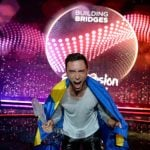 Winning the Eurovision Song Contest 2015 with his song Heroes. Photo: Jessica Gow/TT