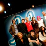 Together with the other Swedish Idol contestants in 2005.  Photo: Pontus Lundahl/TT