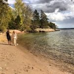 Fabienne Roy, a French reader of The  Local and a visiting friend made the most of the sunshine on Grinda island in the Stockholm archipelago on May 3rd.Photo: Maddy Savage