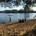 Yes, there are beaches in Stockholm. This one is in Hornstull and our Editor took this snap at 8pm on June 9th.Photo: Maddy Savage