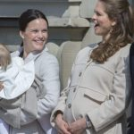 Sofia Hellqvist joining Princess Madeleine at celebrations for the King's birthday in May 2015.Photo: TT