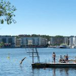 Anyone for a swim? In Stockholm, certainly.Photo: Jessica Gow/TT
