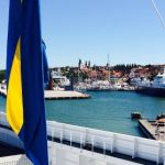 One of The Local's reporters snapped this picture of the ferry leaving Visby on the island of Gotland on July 3rd.Photo: Emma Löfgren