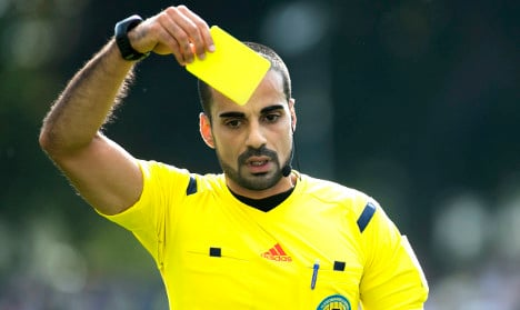 Swedish referee sends off own Facebook page