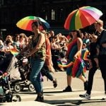Gay parents march with their children.Photo: Sophie Inge