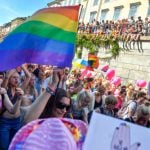 Tens of thousands of people walked in Saturday's parade.Photo: Vilhelm Stokstad/TT