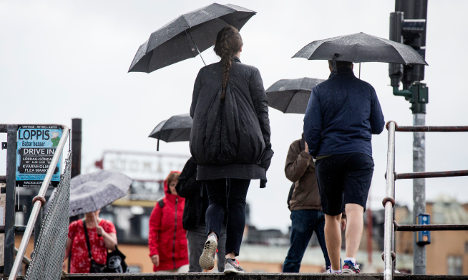 Heavy rain warning for western parts of Sweden