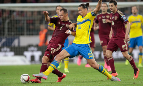 Russia topple Sweden after Zlatan injury