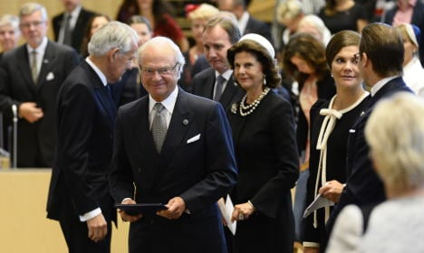 Sweden's king 'touched' by EU refugee crisis