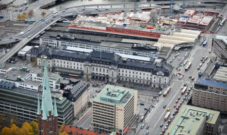 Refugee 'zone' planned by Stockholm station