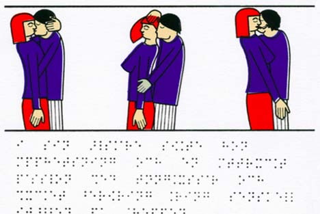 Swede draws 'tactile' sex book for blind people
