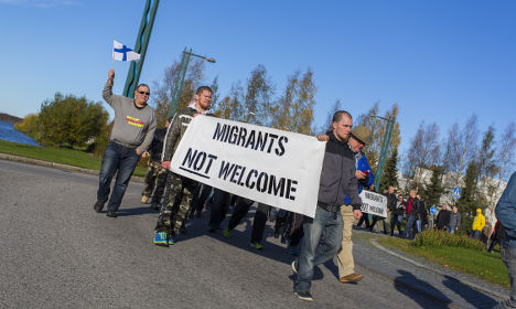 More refugee protests at Sweden-Finland border