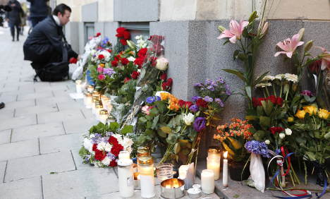 Sweden remembers France attack victims