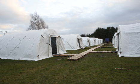 Sweden's first refugee tent camp set to open