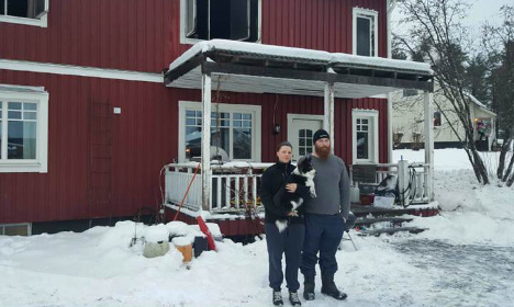 Alert Swedish dog saves couple from house fire