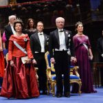 Sweden's royal family at the awards ceremony at Stockholm's Concert Hall. From left, Queen Silvia, Prince Daniel, King Carl XVI Gustaf and Crown Princess Victoria.Photo: Jonas Ekströmer/TT