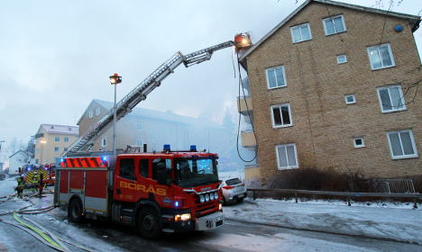 Firefighters battle flames and ice in Borås blaze