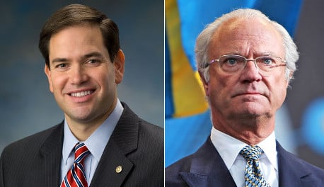 Swedish royalists up in arms over US politician's blunder