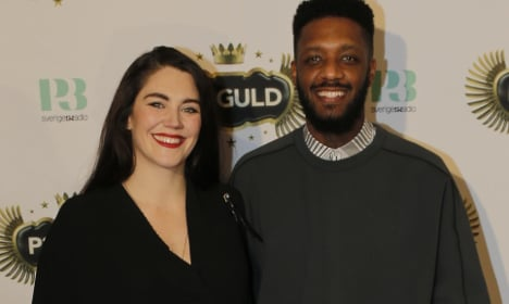 Swedish rapper and partner hit back after race row
