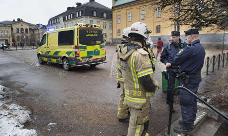 Unexplained explosion at Swedish high school