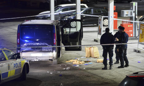 Security service probes shooting at Stockholm rally
