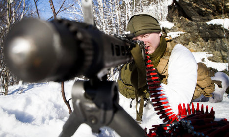 Swedish troops train with Nato forces in northern op