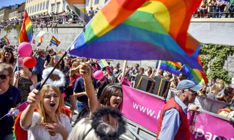 Sweden flies flag for gay rights with new stamp