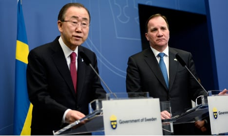 UN boss discusses Syria and refugees in Sweden