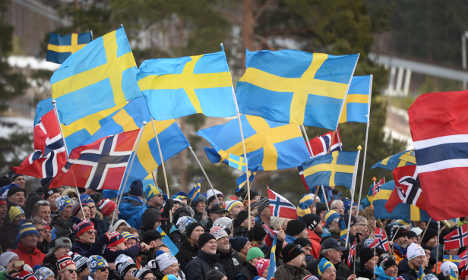 What does two percent of Norway have against Sweden?