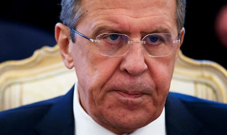 Russia's foreign minister warns Sweden off Nato