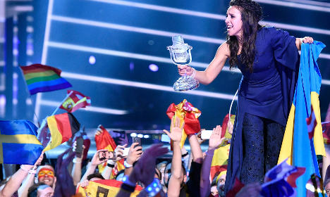 Eurovision star brushes off Russian fury over Sweden win