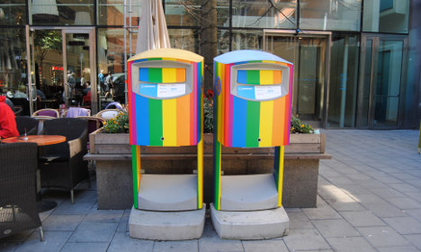These are some of Sweden's new gay pride mailboxes
