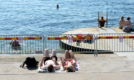Swedish beaches are cleaner, but these are still too dirty