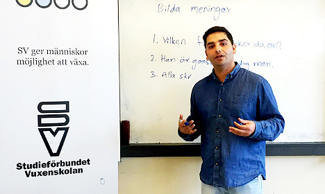 How Samir got a job teaching Swedish – after two years in Sweden