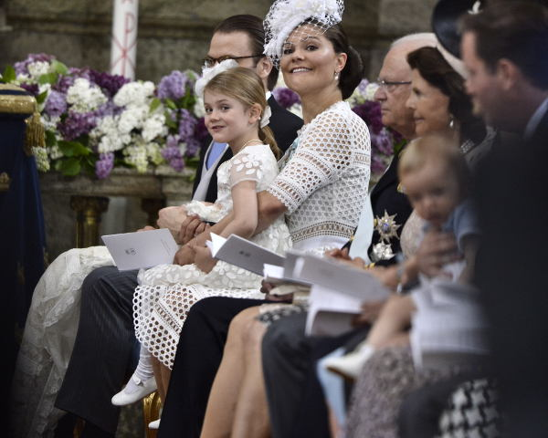 IN PICTURES: Royal smiles at Prince Oscar's christening