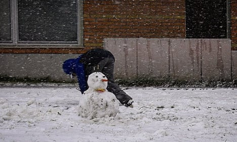 Snowmen in summer?! This is northern Sweden right now