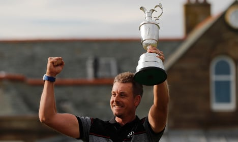 Swede Stenson surges to British Open glory