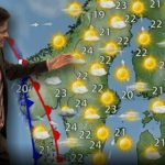 Summer's so hot this Swedish weather host left his fly open