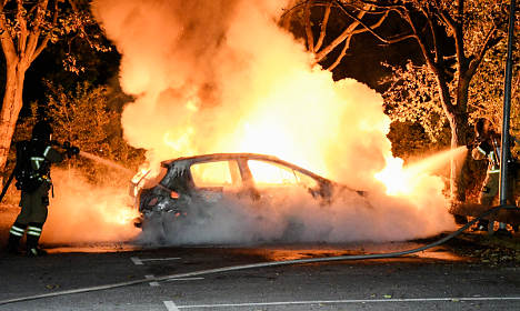 Furious fireman lashes out at Malmö car arsonists