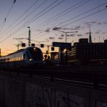 Trains in Stockholm.Photo: Zhang Huichen